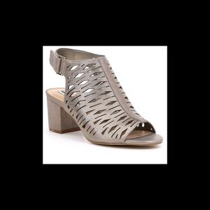 Karl Lagerfield gold leather sandals, size 8